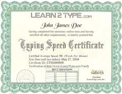 Get typing certificate online typing test & speed certification